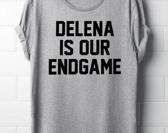 Delena is our endgame, The vampire diaries T-Shirt, Delena, Women's T-Shirt, Tvd,