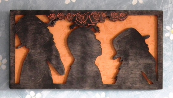 Zz Top Inspired Wooden Picture Rock And Roll Music Artwork