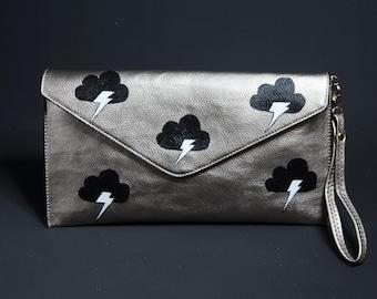 Silver Clutch weather bag