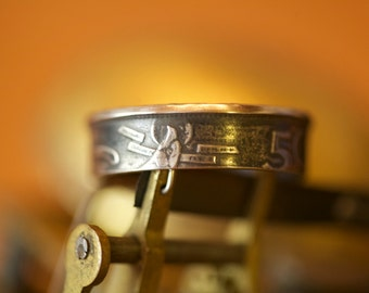 1957 Spain Spainish 50 PTAS Coin Ring Free S/H UBDrMADE