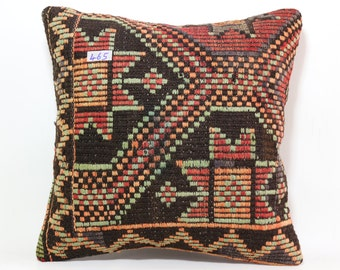 turkish handmade kelim kissen 20x20 inches patterned hand woven kilim pillow decorative pillow bohemian pillow bed pillow cover SP5050-465