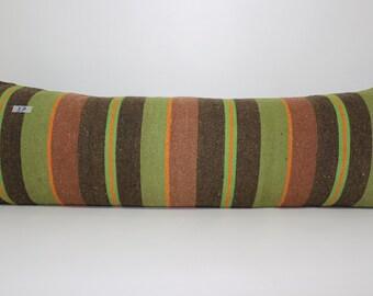 16x48 Vintage Rectangle Striped Turkish Kelim Kissen 16x48 Anatolia Kelim Kissen Boho Pillow SP40120-37