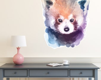 Red Panda Watercolour Wall Decal PC0229