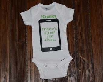 iCranky Theres a Nap for that Baby Bodysuit Baby  Baby Shower Gift Nursery Custom Clothing Infant {K15}