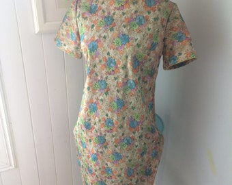 Pixelated Pasted Print 60's Shift Dress