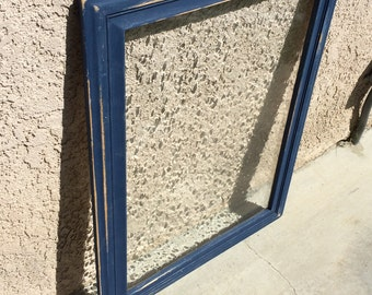 Napoleonic Blue Annie Sloan Distressed Frame