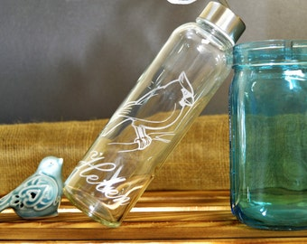 Cardinal Water Bottle with Personalized Name