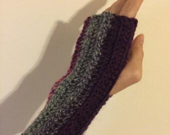 Multi Color Fingeless Gloves (short)