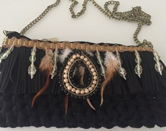 BAG BOHO FEATHER