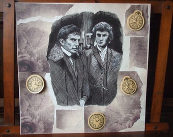 Quentin and Barnabas Collins:  Time themed original drawing