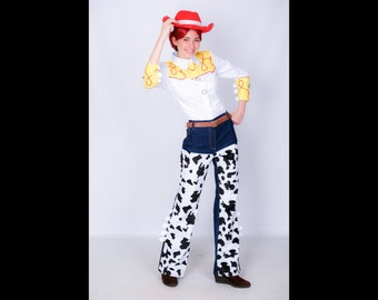Jessie cosplay costume cowgirl, the Toy Story, Woody, Buzz Lightyear, fancy dress adult, true Texan, Pixar
