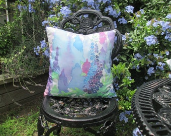 Hand-Painted 100% Silk Cushion