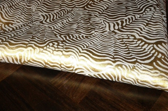 Home Decor Fabrics By The Yard: Items Similar To Home Decor Silver And Gold Fabric/Fabric