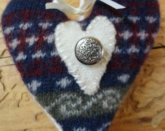 Rustic Heart Decor Ornament