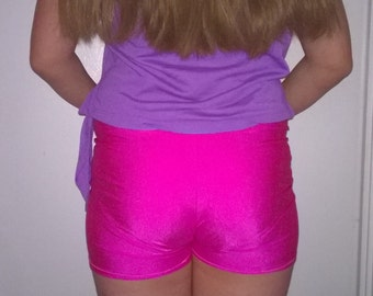 Girls Spandex Shorts Solid Color