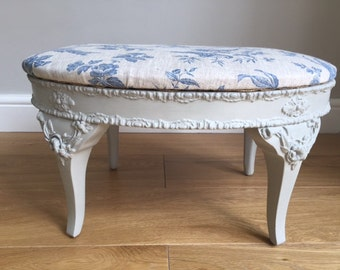 Vintage Ornate French Inspired Footstool