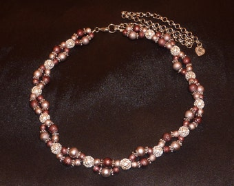 Beauté Asiatique - Asian Inspired Two-Tone Necklace