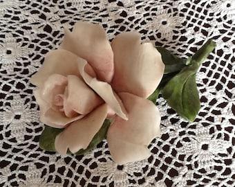 Vintage Crown N Capodimonte Single Rose on Stem