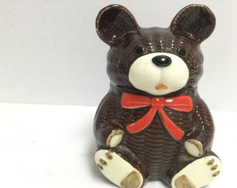 Otagiri Ceramic Tesdy Bear Coin Bank Made in Japan 1979 - Piggy Bank