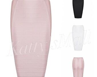 Bandage skirt, bodycon skirt, pencil skirt, white skirt, black skirt, women's skirts