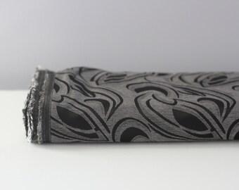 Silvery Black Print By The Yard