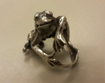 Sterling Silver .925 Frog Ring, Size 5.5