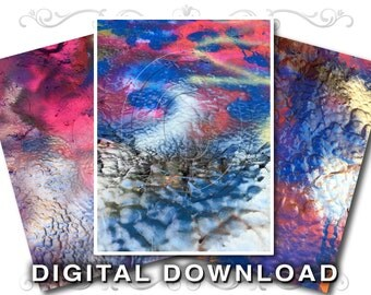 3 Stock Photo Textures | Graffiti Paint | Clip Art Photo | Commercial Use Instant Download | Paint-01 Blues Pinks
