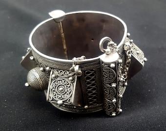 Morocco - Silver bracelet hinged, Anti Atlas