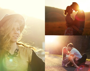 40 Sun Lens Flare Overlays and Natural Light Photo overlays