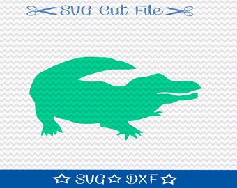 Alligator SVG File / SVG Cut File for Silhouette / Crocodile SVG / Reptile svg / Animal svg