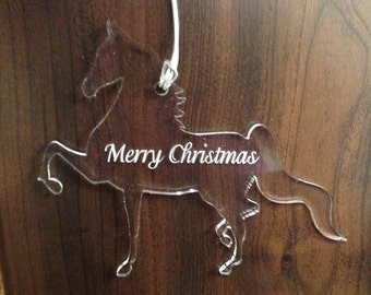Saddlebred Horse Ornament
