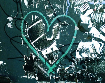 Green Heart© - NYC Graffiti - New York Street Art
