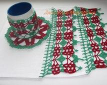 Crochet Kitchen Set, Wintery Kitchen Set. Kitchen accessories