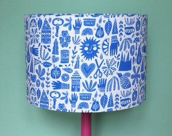 Fable - Handmade scandi-style lampshade in cobalt blue