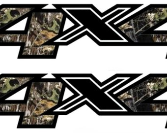 Pair 4x4 Camo Chevy Dodge Ford Bed Decals Stickers Truck-T-49