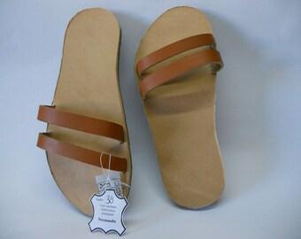 Sandale en cuir véritable