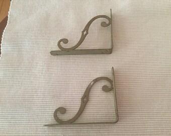 Vintage shelf brackets