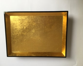 Gold/Black Lacquer Tray