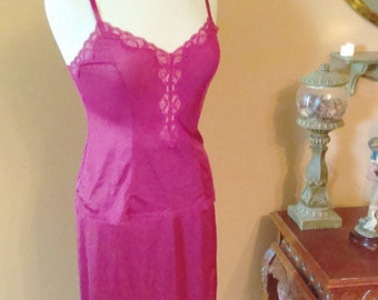 Vintage Slip  2 Pieces- Set  Camisole and Half Slip By Fortune Size Small
