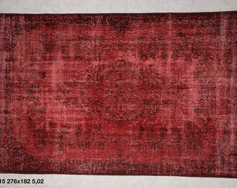 Hand Made Overdyed Vintage Carpet