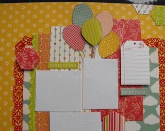 Handmade Scrapbook Page Layouts