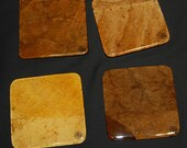 Hand-Crafted Tobacco Leaf Coasters (Square -  Assorted)