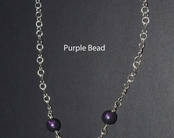 Beaded Necklaces, With Handmade Chain