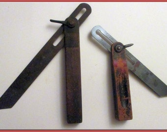 T-Bevel Square-OLD-and Stanley T-Bevel Square-Vintage-Nice Collector's Tool-  -2 Tools- for -1 Price