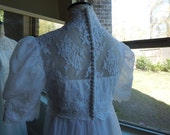 Gorgeous Vintage 1960's Edythe Vincent by Alfred Angelo Wedding Gown