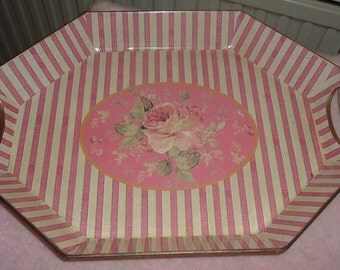 Lovely tray with pink roses