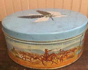 Vintage Texas Fruitcake Tin