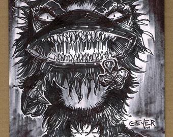 Critters Krite ORIGINAL ink drawing Creature