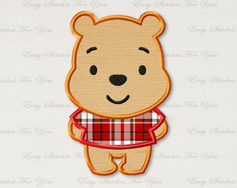 BOGO FREE! Winnie the Pooh applique embroidery design, Winnie the Pooh Machine Embroidery Designs, Embroidery designs for babies, A032