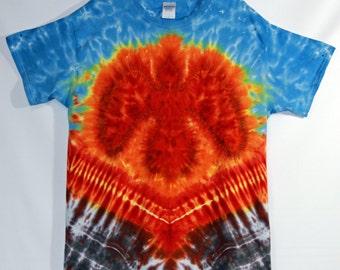 Phoenix Rising Tie Dye Short Sleeve Adult Large